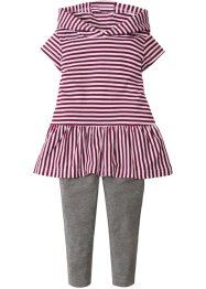 Kleid mit Kapuze + Leggings (2-tlg.), bpc bonprix collection
