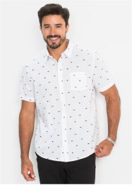 Kurzarmhemd Minimalmuster Regular Fit, bpc bonprix collection