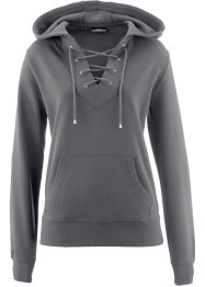 Kapuzensweatshirt mit Schnürung, bpc bonprix collection