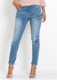 Girlfriend-Jeans mit Schmetterling-Stickerei, BODYFLIRT
