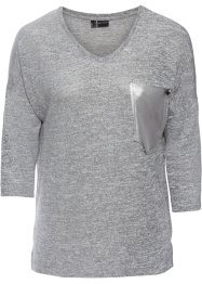 Shirt mit Tasche in Metallic-Optik, BODYFLIRT