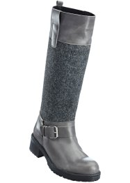 Stiefel mit Lederantei, bpc bonprix collection