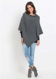 Poncho mit Intarsie, bpc bonprix collection