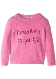 Flauschiger Pullover mit Pailletten, bpc bonprix collection