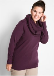 2-in-1-Long-Pullover mit Schal, bpc bonprix collection