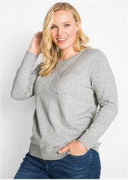 Pullover mit Brusttasche, bpc bonprix collection