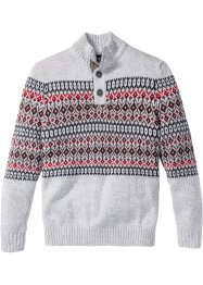 Pullover mit Knopfleiste Regular Fit, bpc bonprix collection