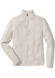 Melierter Troyer-Pullover Regular Fit, bpc selection