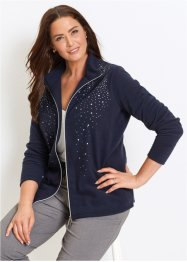 Fleecejacke mit Glitzersteinen, bpc selection