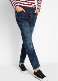 Boyfriend-Stretch-Jeans mit Rundumrippbund, bpc bonprix collection