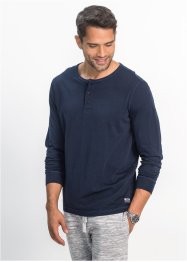 Langarmshirt mit Knopfleiste Regular Fit, bpc bonprix collection