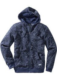 Melierte Sweatjacke mit Kapuze Regular Fit, bpc bonprix collection