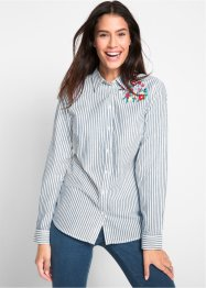 Langarm-Bluse mit Stickerei, bpc bonprix collection