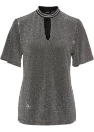 Glitzershirt mit Halsdetail, BODYFLIRT