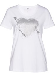 T-Shirt mit Glitzerdruck, bpc selection