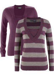 Pullover im 2er-Pack, bpc bonprix collection