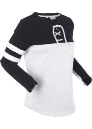 Langarm-Sweatshirt mit Bindefunktion, bpc bonprix collection