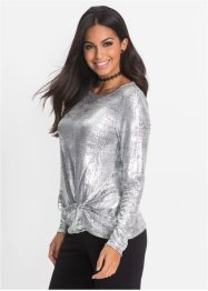 Glitzershirt mit Knoten, BODYFLIRT
