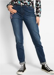Boyfriend-Jeans mit Blumenstickerei, bpc bonprix collection