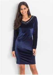 Samtkleid mit Steinchenapplikation, BODYFLIRT