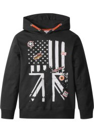 Kapuzensweatshirt mit Badges, bpc bonprix collection