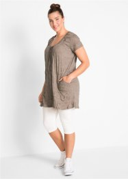 Longtunika mit Crash-Effekt + 3/4-Leggings (2-tlg.), bpc bonprix collection