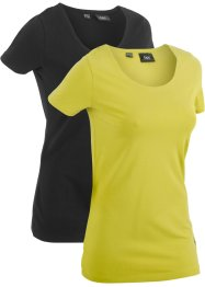 T-Shirt im 2er-Pack, bpc bonprix collection