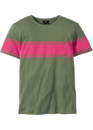 T-Shirt mit Streifen Regular Fit, bpc bonprix collection