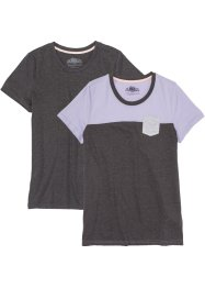 Kurzarmshirt (2er-Pack), bpc bonprix collection