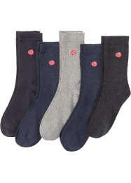 Socken mit Stickerei (5er-Pack), bpc bonprix collection