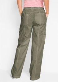 Baumwoll Cargo-Hose mit Bequembund, Loose Fit, bpc bonprix collection