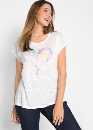 Flammgarn-Shirt mit Aquarell-Druck, bpc bonprix collection