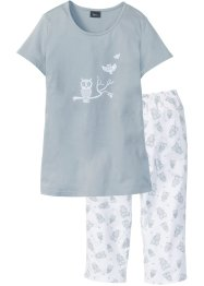 Capri Pyjama mit kurzen Ärmeln, bpc bonprix collection