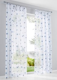 Transparente Gardine mit Sterne Druck (1er Pack), bpc living bonprix collection