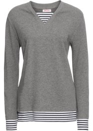 Langarm-Sweatshirt in 2-in-1-Optik, John Baner JEANSWEAR
