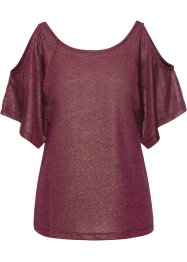 Glitzershirt mit Cut-Outs, BODYFLIRT
