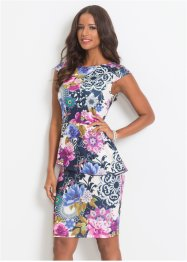 Stretch-Kleid mit floralem Print, BODYFLIRT boutique