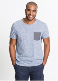 T-Shirt meliert mit Chambraytasche, bpc bonprix collection