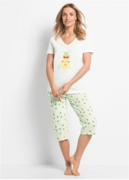 Capri Pyjama Bio-Baumwolle, bpc bonprix collection