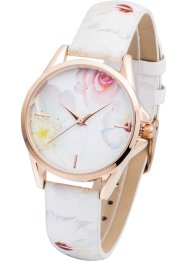 Uhr mit floralem Armband, bpc bonprix collection