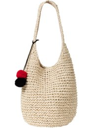 Strandshopper mit bunten Bommeln, bpc bonprix collection