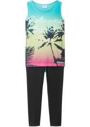 Top (mit Fotodruck) + 3/4-Leggings (2-tlg.), bpc bonprix collection