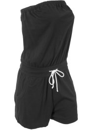 Baumwoll Bandeau-Jumpsuit, kurz, bpc bonprix collection