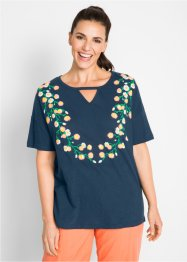 Flammgarn-Kurzarmshirt mit Druck, bpc bonprix collection