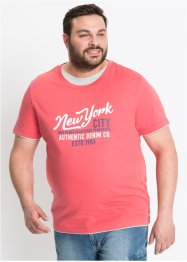 T-Shirt in Doppeloptik mit Druck Regular Fit, John Baner JEANSWEAR