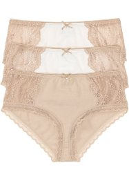 Panty mit Spitze (3er-Pack), bpc bonprix collection