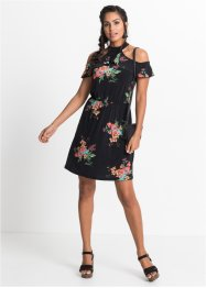 Cold-Shoulder-Kleid mit floralem Print, BODYFLIRT