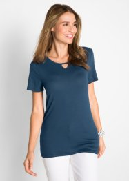 Kurzarmshirt mit Cut-Out, bpc bonprix collection