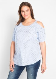 Baumwoll-Umstandsbluse mit Cut-Outs, bpc bonprix collection