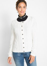 Strickjacke mit Zopfmuster, bpc bonprix collection